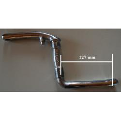 Pédalier 127mm 1 pièce chrome