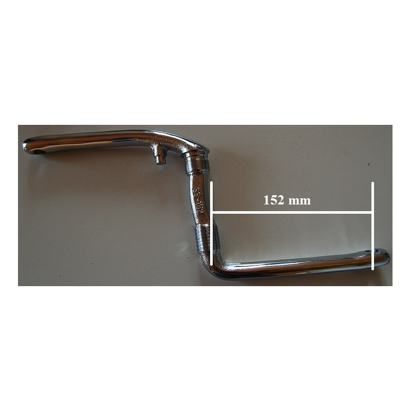 Pédalier 152mm 1 pièce noir ou chrome