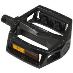 Pédales BMX alu noire 9/16.