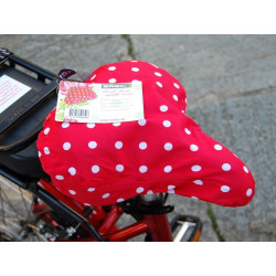 Couvre selle BASIL KATHARINA Rouge à Pois Blancs