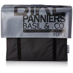 Double sacoche Basil Transport gris/noir