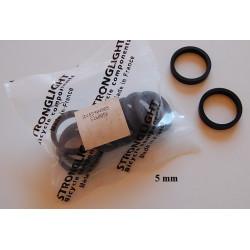 10 Entretoises de direction headset 25.4mm noir mat