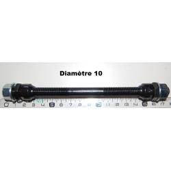Axe av plein complet D10 Lg 175mm